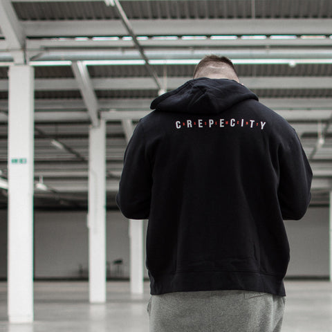 Crepe City X The Basement Zip Up Hoodie - Black