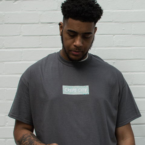 "Crepe City ""Mag Box Logo"" T Shirt - Dark Grey"