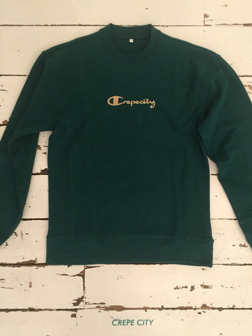 Script Logo Sweatshirt - Forest Green / Cream