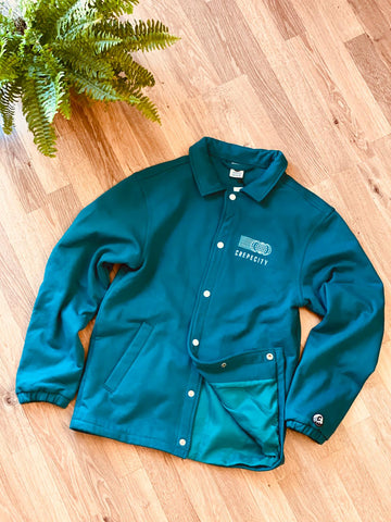 *CLEARANCE* Crepe City Coach Jacket Teal