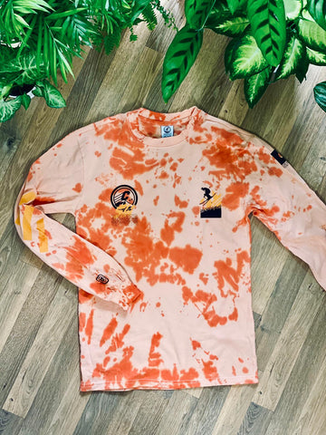 *Clearance* Crepe City Tie Dye Long Sleeve T Shirt