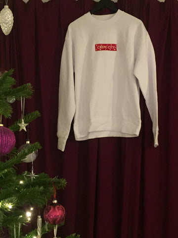 Crepe City XMAS Box Logo Crew Neck WHITE