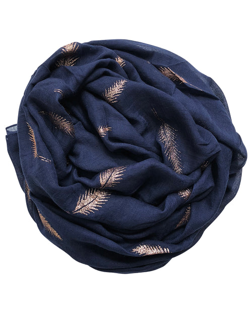 Gold Feather | Navy