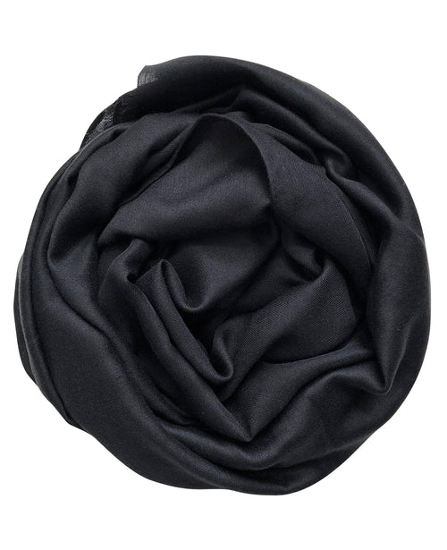Premium Black Plain Hijab