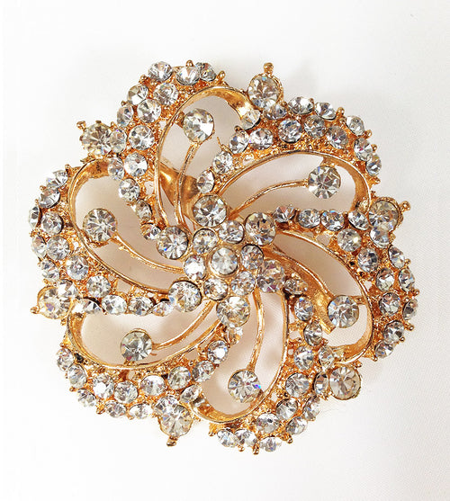 Diamond Swirl Hijab Brooch