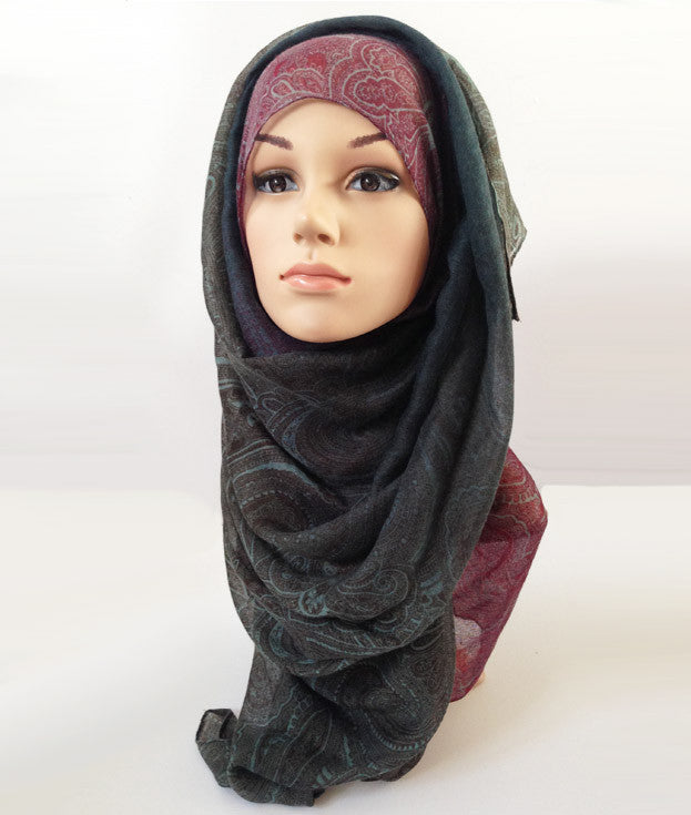 Paisley Ombre Hijab | Best Online Hijab Shop | Beautiful Scarves