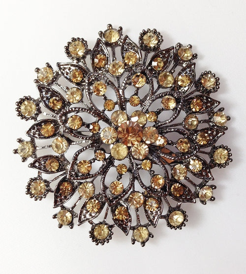 Golden Flower Hijab Brooch