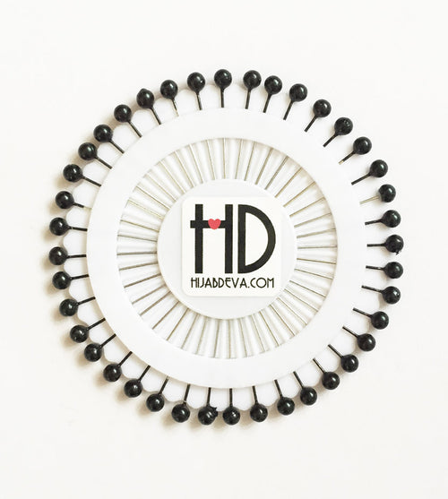 Black Hijab Pin Wheel