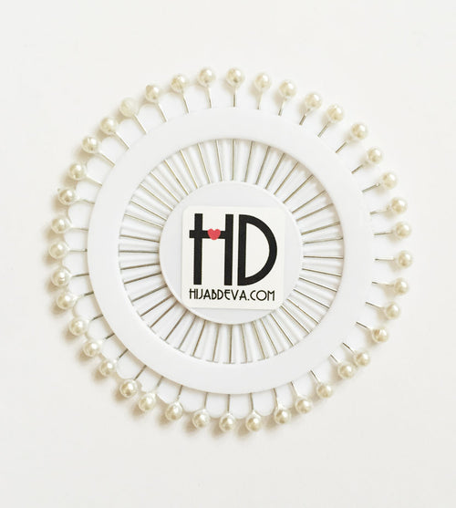 Pearl White Hijab Pin Wheel