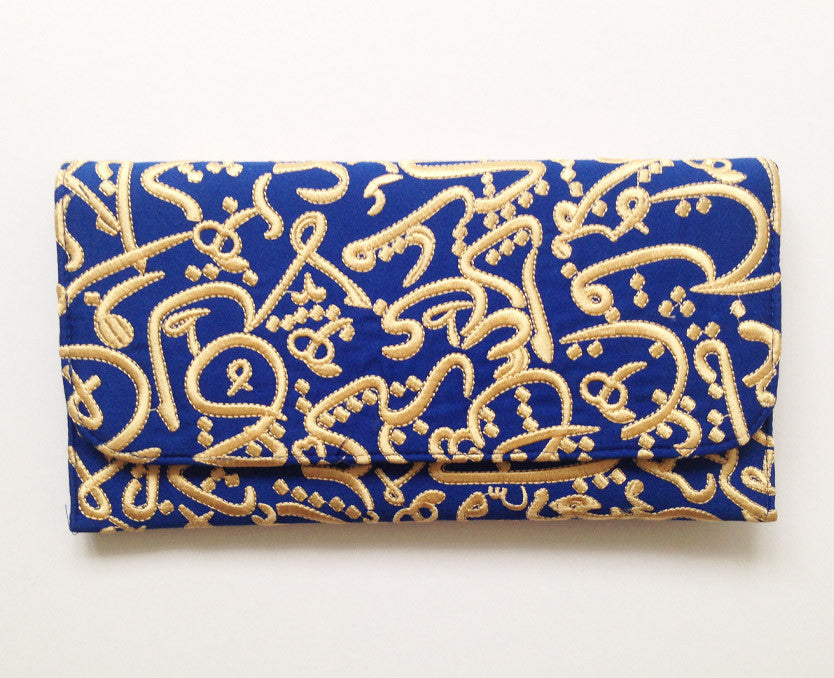 Egyptian Blue Arabic Clutch Handbag