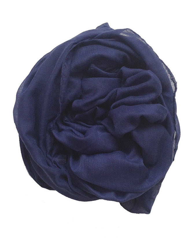 Navy Blue Plain Hijab | Online Hijab Shop