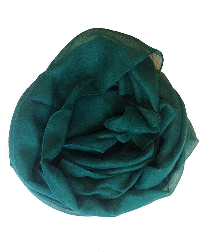 Teal Plain Hijab