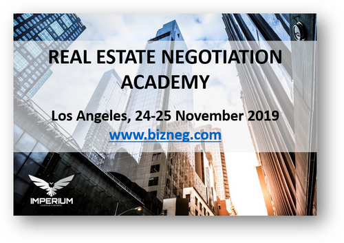 Real Estate Negotiation Academy - Los Angeles, 24 - 25 November 2019