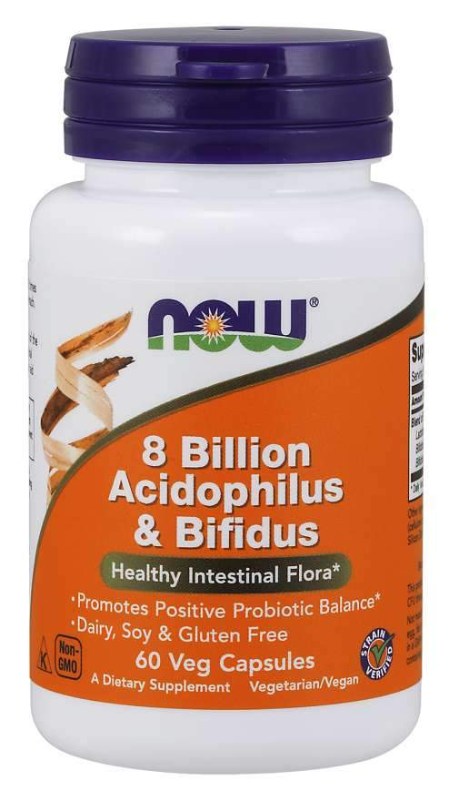 Now Foods, 8 Billion Acidophilus & Bifidus, 120 Veg Capsules
