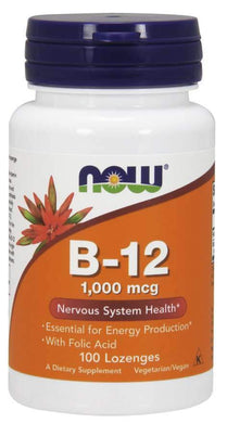 Now Foods, B-12, 1,000 mcg, 100 Lozenges