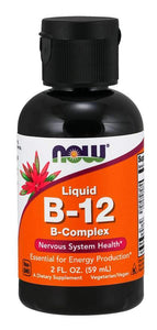 Now Foods, Liquid B-12, B-Complex, 2 fl oz (59 ml)