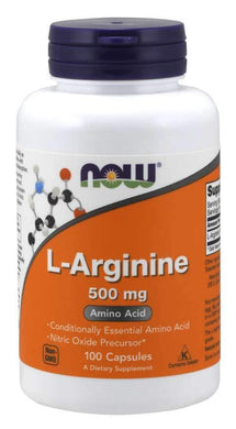 Now Foods, L-Arginine, 500 mg, 100 Capsules