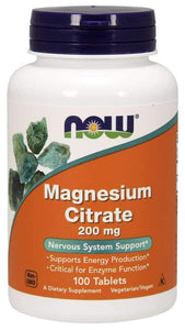 Now Foods, Magnesium Citrate, 200 mg, 100 Tablets
