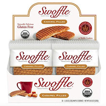 Load image into Gallery viewer, Caramel Swoffle, Organic & Gluten Free, Waffle Cookie, Box of 16 individually wrapped