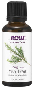 tea tree oil bottle, Now Foods