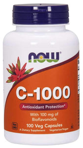 Now Foods, C-1000, With 100 mg of Bioflavonoids, 100 Veg Capsules
