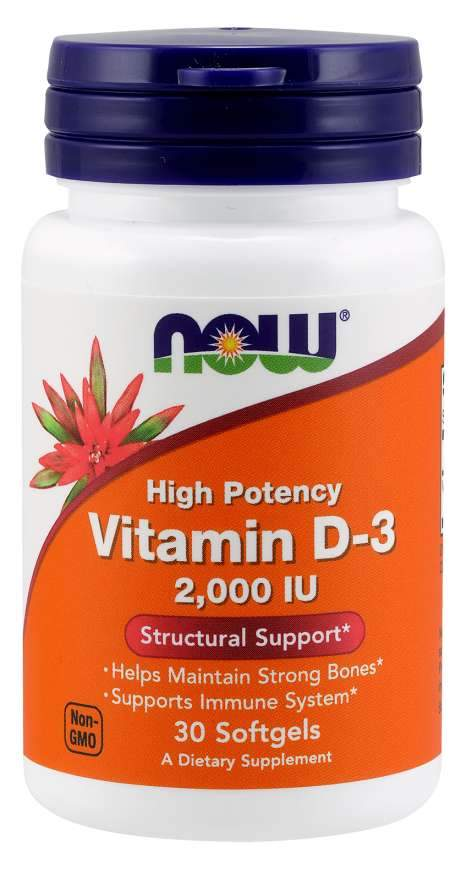 Now Foods, Vitamin D-3 High Potency , 2,000 IU, 120 Softgels