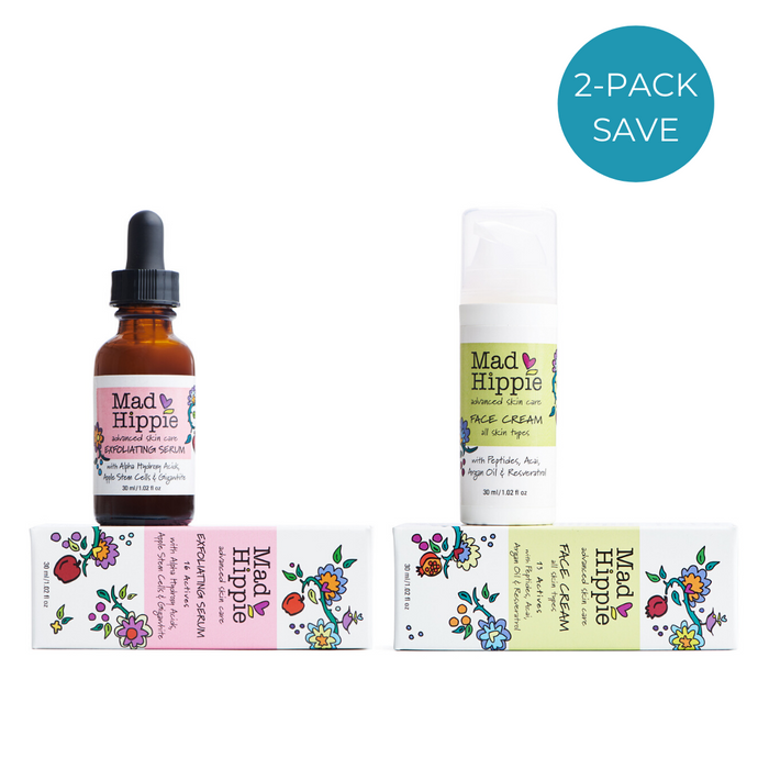 2-Pack: Mad Hippie Exfoliating Serum + Face Cream