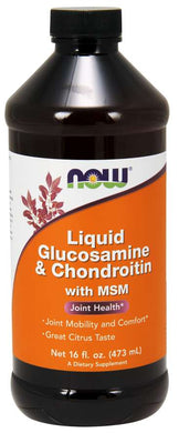 NOW, Glucosamine & Chondroitin with MSM Liquid (473ml)