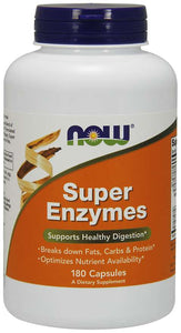 Now Foods, Super Enzymes, 180 Tablets