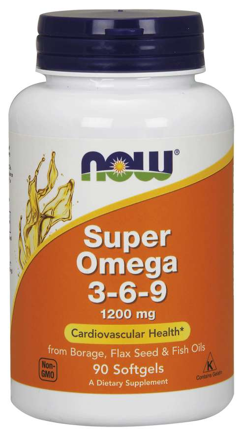 NOW, Super Omega 3-6-9, (90 softgels)
