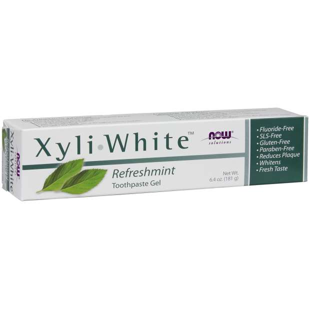 NOW, XyliWhite, Natural Toothpaste Gel, Refreshmint, 181g