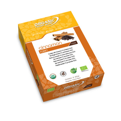 Full Box- 12 x 50g Organic Food Bar Cinnamon Raisin