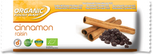Load image into Gallery viewer, Organic food bar wrapper Cinnamon Raisin