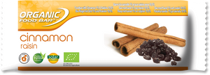 Organic food bar wrapper Cinnamon Raisin