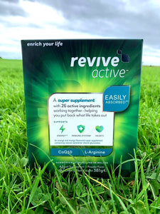 Revive active outside in grass