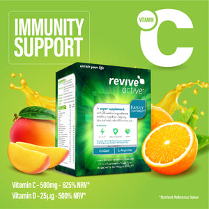Revive active- immunity support. 500mg Vit C