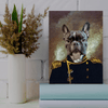 Pet Creatives The Admiral- Custom Pet Canvas