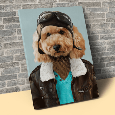 Pet Creatives The Aviator - Custom Pet Canvas