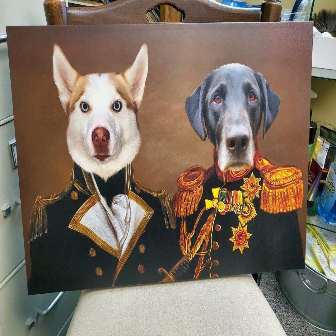 THE BROTHERS IN ARMS - CUSTOM 2 PET CANVAS