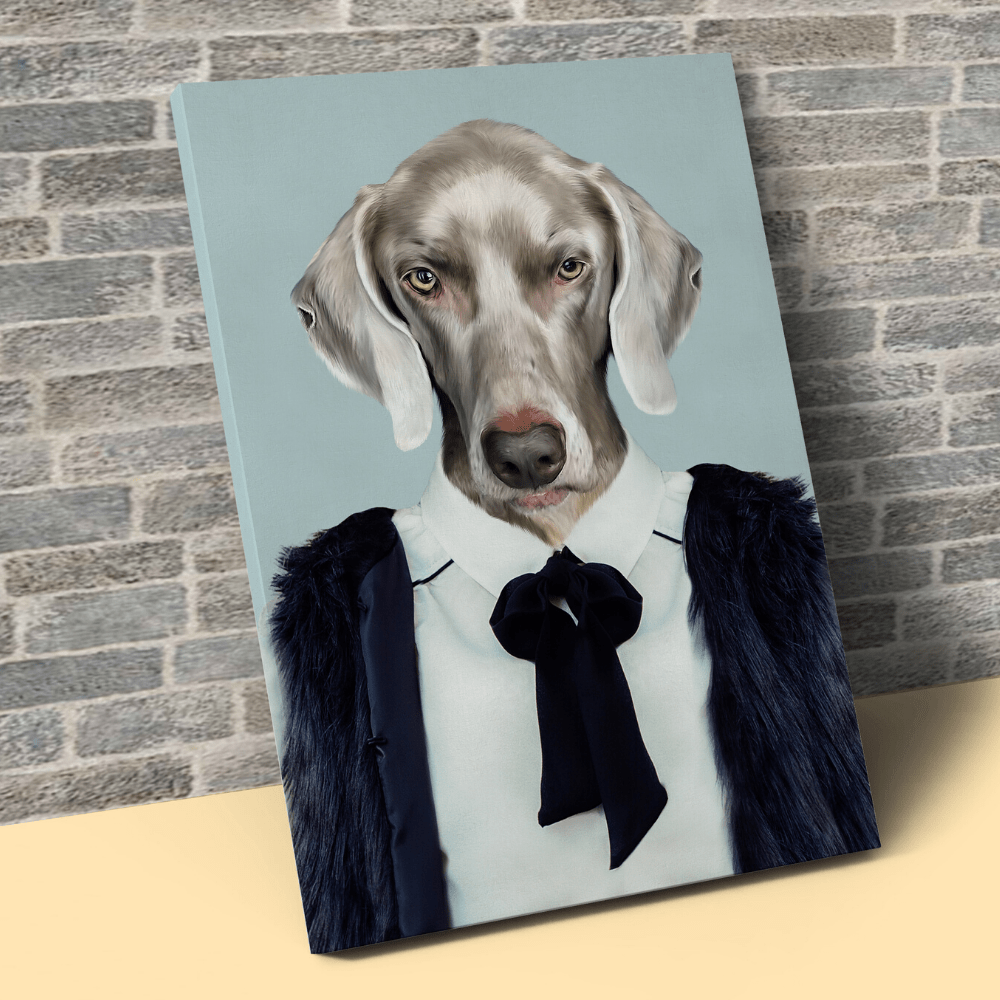 Pet Creatives THE BUSINESS LADY - Custom Pet Canvas