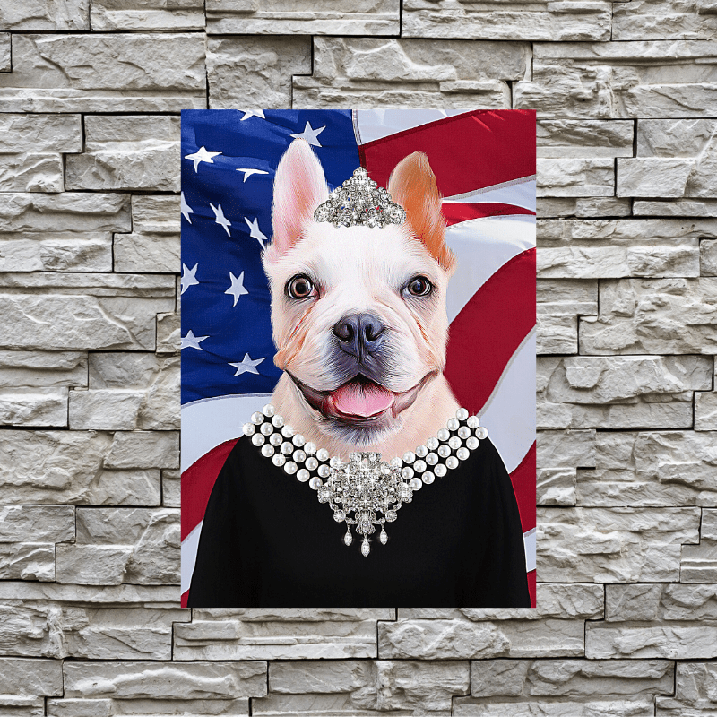 Pet Creatives The Classic Lady - USA FLAG EDITION - Custom Pet Canvas