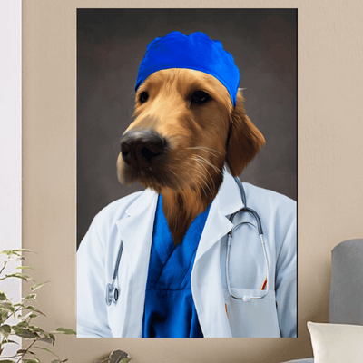 Pet Creatives The Doctor - Custom Pet Canvas