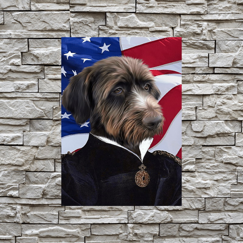 Pet Creatives The Duchess - USA FLAG EDITION - Custom Pet Canvas