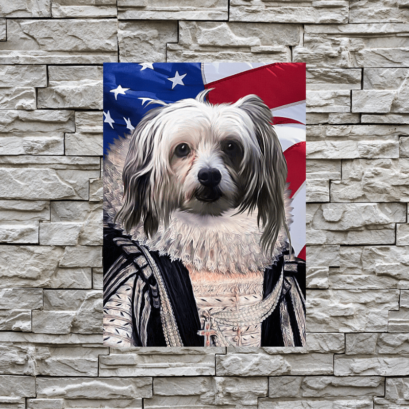 Pet Creatives The Empress - USA FLAG EDITION - Custom Pet Canvas