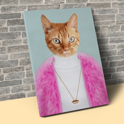Pet Creatives The Glamorous Lady - Custom Pet Canvas