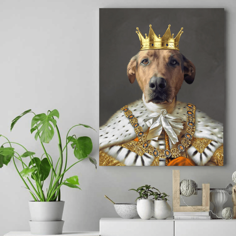 Pet Creatives The Golden King - Custom Pet Canvas