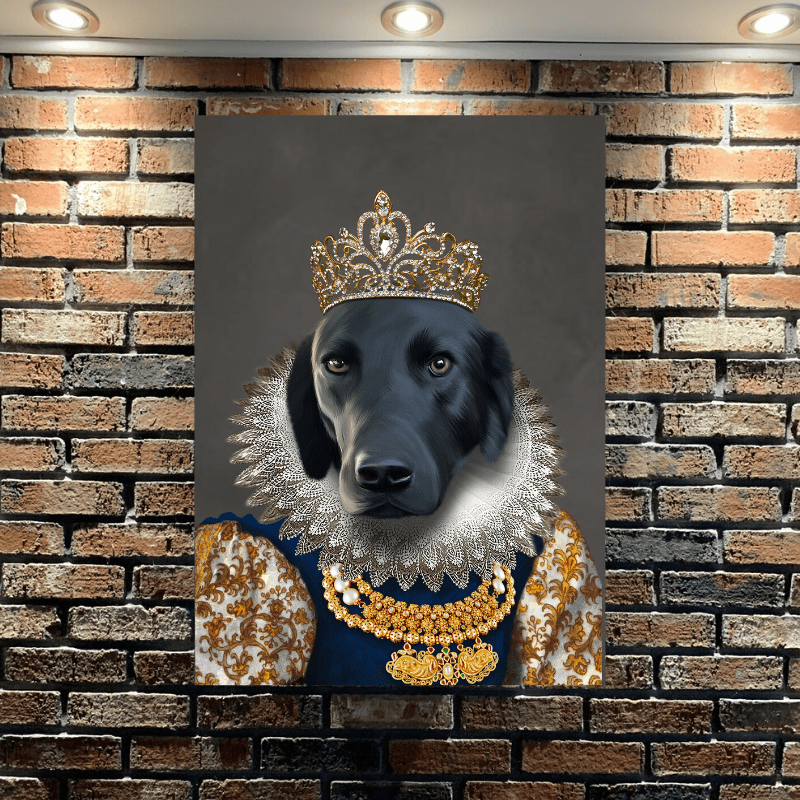 Pet Creatives The Golden Queen - Custom Pet Canvas