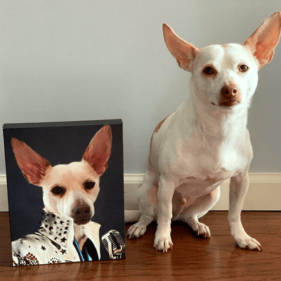 Pet Creatives The King of Rock and Roll - Custom Pet Canvas