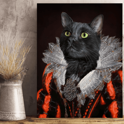 Pet Creatives The Lady in Red - Custom Pet Canvas