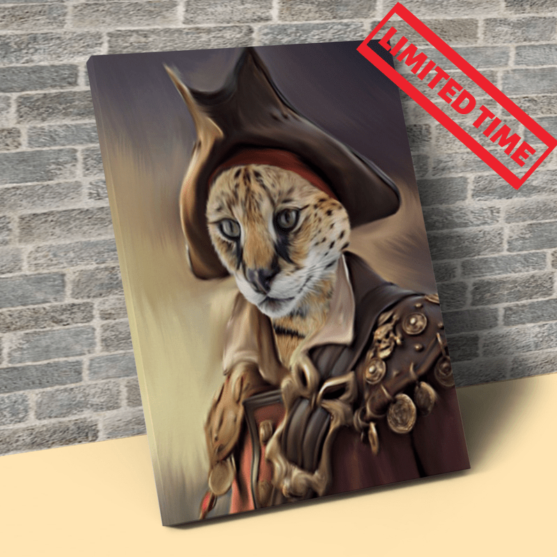 Pet Creatives The Pirate - Custom Pet Canvas